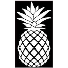 Amazon Com Pineapple Vinyl Sticker Decals For Car Bumper Window Laptop Phone Tablet 6 X 3 2 White Arts Crafts Sewing