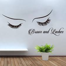 Large Lashes Brows Eyelashes Wall Window Decal Beauty Salon Fashion Eye Lashes Brows Wall Window Sticker Vinyl Art Mural Decor Wall Stickers Aliexpress