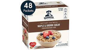 quaker instant oatmeal maple