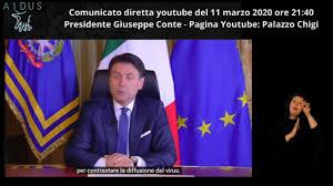 Conte 11 03 20 - YouTube