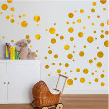 Rose Gold Wall Decals Peel And Stick Pink For Home Art Big Star Dots Vamosrayos