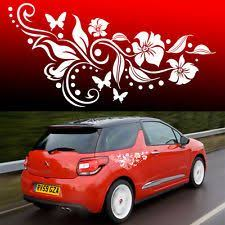Girlie Side Decals For Cars Flower Vinyl Car Graphics Stickers Decals Butterfly Design 002 Car Sticker Design Car Decals Vinyl Car Graphics