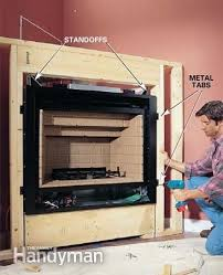 how to install a gas fireplace corner