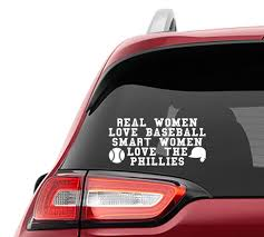 Real Women Love Baseball Smart Women Love The Phillies Vinyl