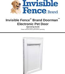 3001183 Invisible Fence Brand Doorman User Manual Radio Systems