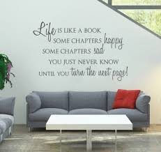 Life Is Like A Book Custom Wall Stickers Home Decor Living Room Black Vinyl Removable Wall Art Decals Waterproof Wallpaper A034 Custom Wall Stickers Stickers Home Decorwall Sticker Aliexpress