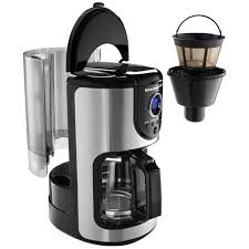drip coffee maker with glass carafe