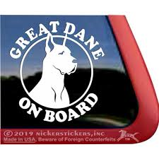 Great Dane On Board Quality Vinyl Dog Window Decal Walmart Com Walmart Com