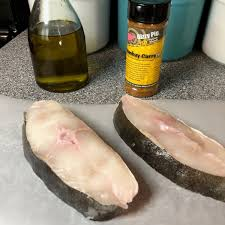 Grilled Halibut Steaks with Curry-ish ...