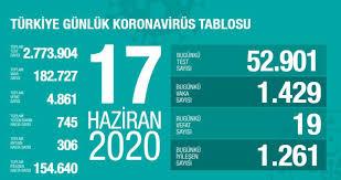 20 HAZİRAN TABLOSU SON DAKİKA: Türkiye'de corona virüsü ölü ve ...