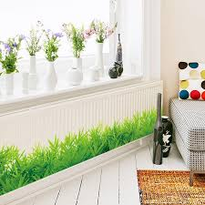 Baseboard Green Grass Waterproof Diy Removable Art Vinyl Wall Stickers Decor Living Room Bedroom Mural Decal Home Decor D19011702 Childrens Wall Stickers For Bedrooms Circle Wall Decals From Mingjing01 18 21 Dhgate Com