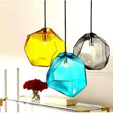 g9 ice cube shape glass stone pendant