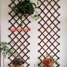 wooden wall trellis expanding garden