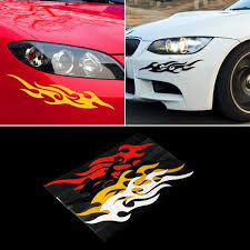 Car Stickers Decoration Auto Flame Fire Hot Selling Window Decals Funny Bumper Stickers For Cars Wish