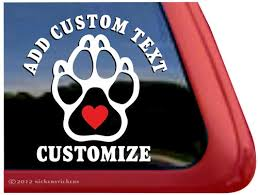 Custom Paw Print Dog Decals Stickers Nickerstickers