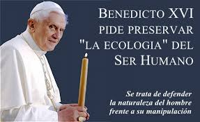 """El Papa Benedicto XVI pide preservar """"la ecología"""" del Ser Humano ..."""
