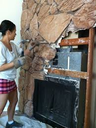 lava rock fireplace remodel or you