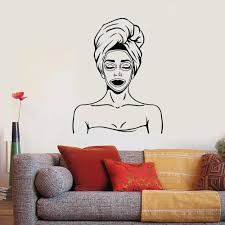 Woman Spa Massage Vinyl Wall Decal Beauty Salon Health Relax Wall Stickers For Bathroom Nordic Home Decoration Art Murals W584 Wall Stickers Aliexpress