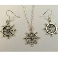 steering wheel boat ship charm pendant