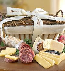 crafted meat cheese gift basket