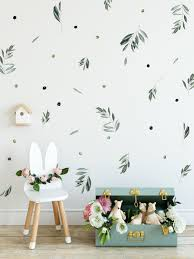 Olive Branch Watercolor Wall Decal Removable Botanical Etsy In 2020 Nursery Wall Painting Wall Decals Watercolor Walls