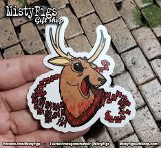 Vinyl Sticker Evil Dead 2 Laughing Deer Etsy