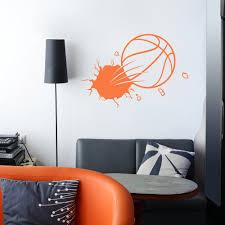 Bursting Basketball Wall Decal Basketball Wall Decor