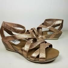 dansko veruca sandal rose gold nappa
