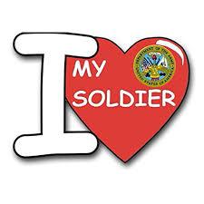 United States Army I Love My Soldier Decal Sticker 5 5 Walmart Com Walmart Com