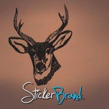 Vinyl Wall Decal Sticker Deer Head Stickerbrand On Artfire