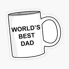 Worlds Best Dad Stickers Redbubble