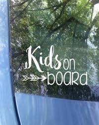 Kids On Board Car Decal Safety Decal Vehicle Window Decal Approximately 6x3 5 Made Of Professional Grade Quality Viny Window Decals Funny Decals Car Decals