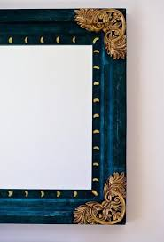 how to refinish old gold mirror frames
