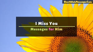 i miss you messages for him missing