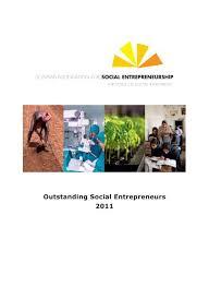 Outstanding Social Entrepreneurs 2011 Schwab Foundation For