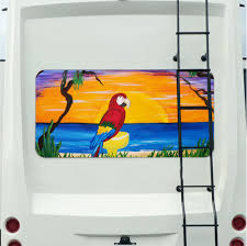 Parrot Margarita Mural Tint Decal Sticker Custom Tire Covers
