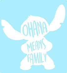 Amazon Com Ohana Means Family Lilo Stitch Disney Epcot Window Decal Vinyl Decal Laptop Locker Decal Sticker Car Sticker Phone Handmade