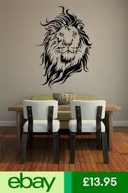 Wall Art Sticker Decal Vinyl Lions Head Mane Aslan Sticker Wall Art Home Decor Decals Wall Decals