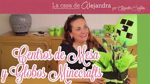 Centro De Mesa Con Dulces Y Globos De Fiesta De Minecraft Diy