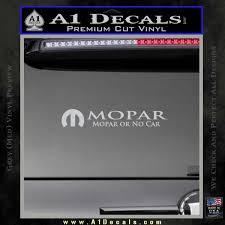 Mopar Or No Car Decal Sticker A1 Decals