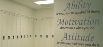 Locker Room Wall Stickers Decals Murals Inspirational Sports Quotes More