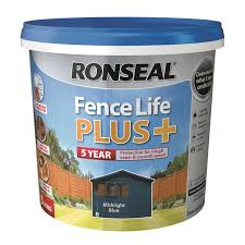 Ronseal Fence Life Plus Midnight Blue 5l Homebase