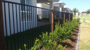 Black Aluminium Flat Top Fencing
