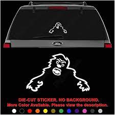 Amazon Com Skoda Yeti Monster Die Cut Vinyl Decal Sticker For Car Truck Motorcycle Vehicle Window Bumper Wall Decor Laptop Helmet Size 12 Inch 30 Cm Wide Color Gloss Black