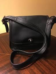 coach black leather cross bag pb009