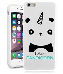 Iphone 6s Plus Case Panda Pandicorn Meme Cool Funny Teen Girls Unique Designer White Gloss Candy Tpu Flexible Slim Case Cover Skin For Apple Iphone 6 Plus 0 Panda Things