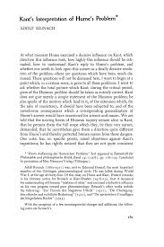 Kant's Interpretation of Hume's Problem - Adolf Reinach - Southwestern  Journal of Philosophy (Philosophy Documentation Center)