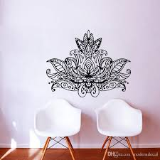 Lotus Mandala Wall Art Stickers Flowers Home Decoration Removable Vinyl Wall Decals Adhesive Wallpaper Wall Vinyl Decals Wall Vinyl Sticker From Moderndecal 9 41 Dhgate Com