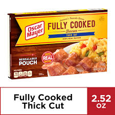 fully cooked bacon 2 52 oz box