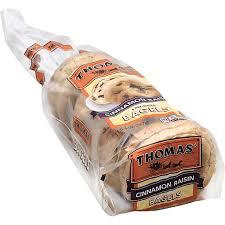 thomas bagels cinnamon raisin the